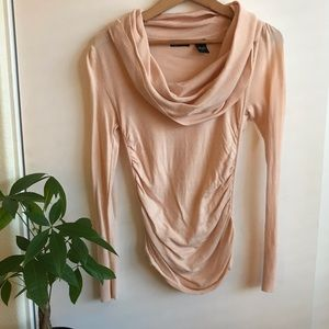 Blush Long-sleeve Maternity Top